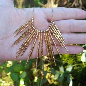 Stella & Dot Kari Fringe Necklace (Gold) - NWOT